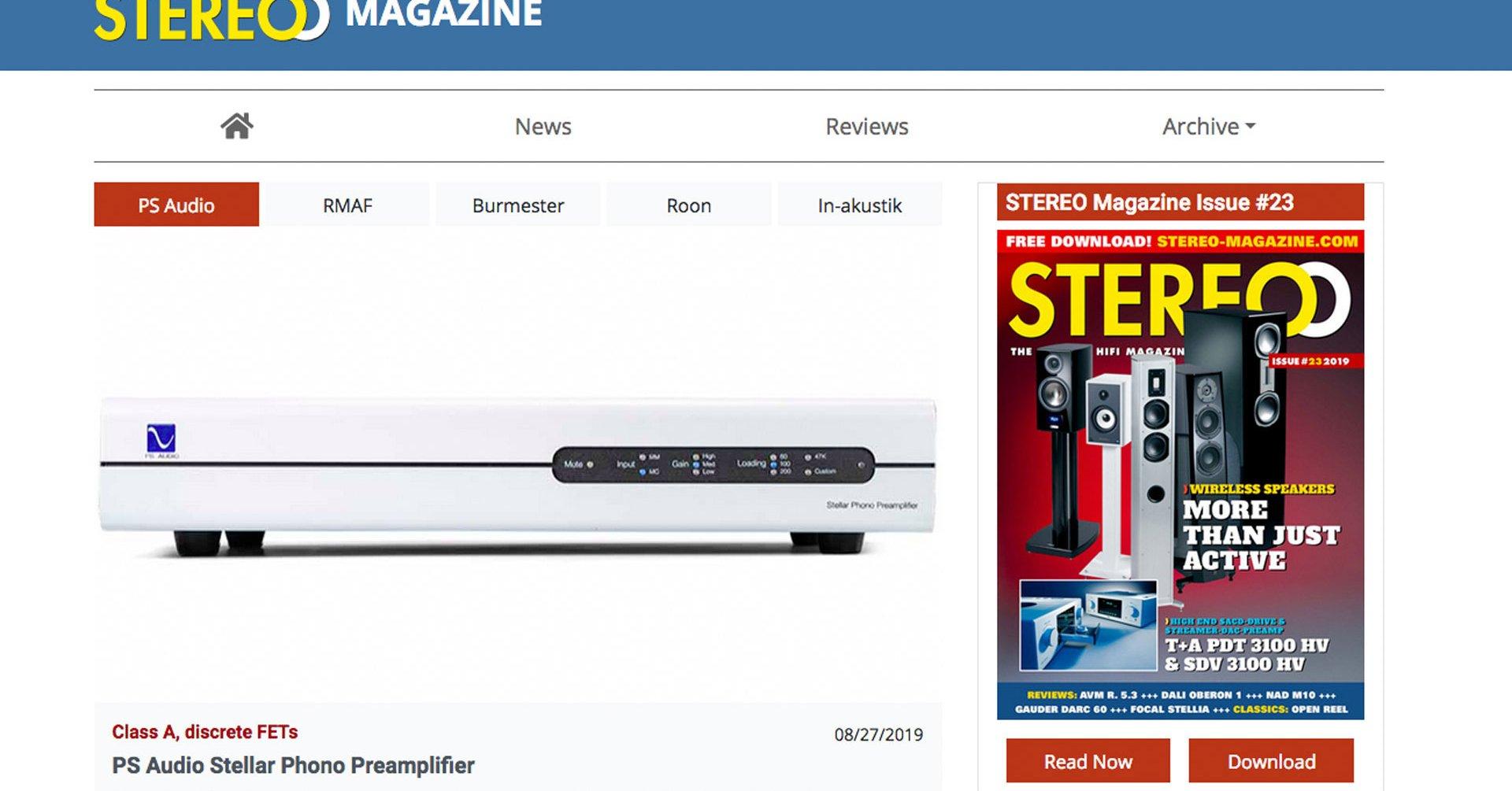 Stereo Magazine: Stereo Magazine Homepage