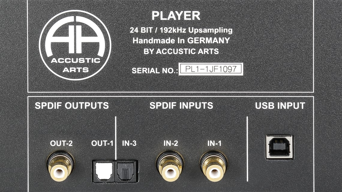 Accustic Arts PLAYER I Inputs
