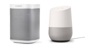 Sonos Play One and Google Home (Image: Sonos, Google)