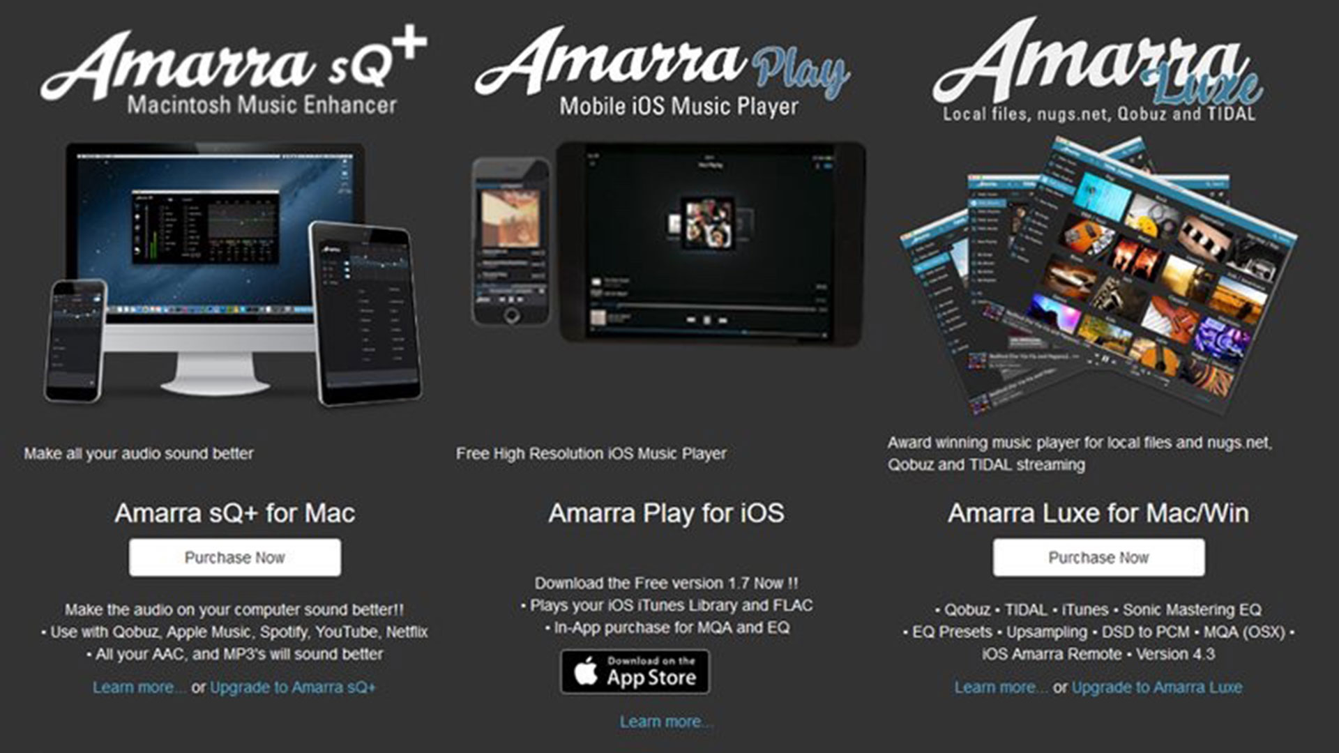 Stereo Magazine: sQ+ and Amarra Luxe