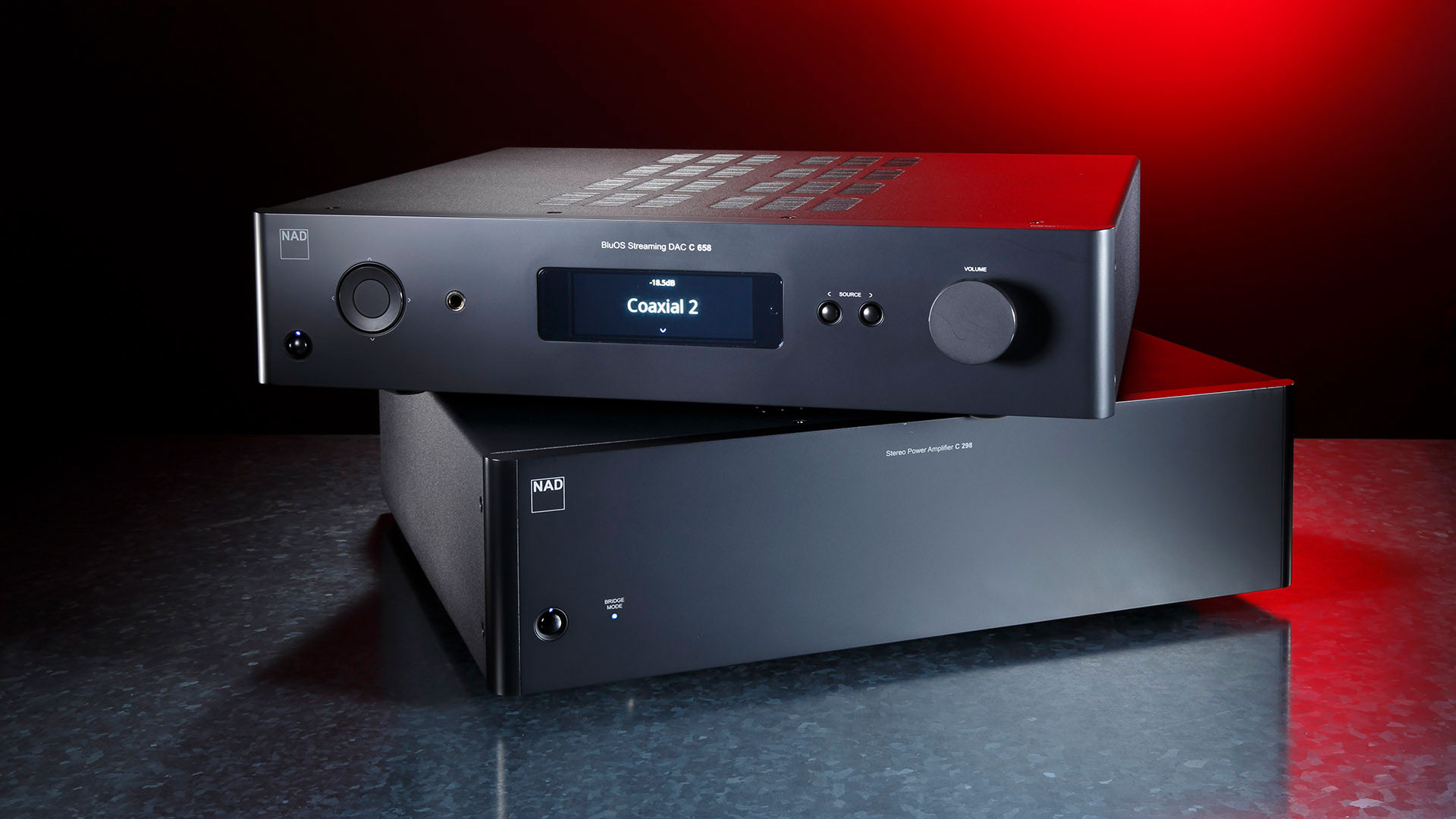 Preamp NAD C 658 and Power Amp NAD C 298