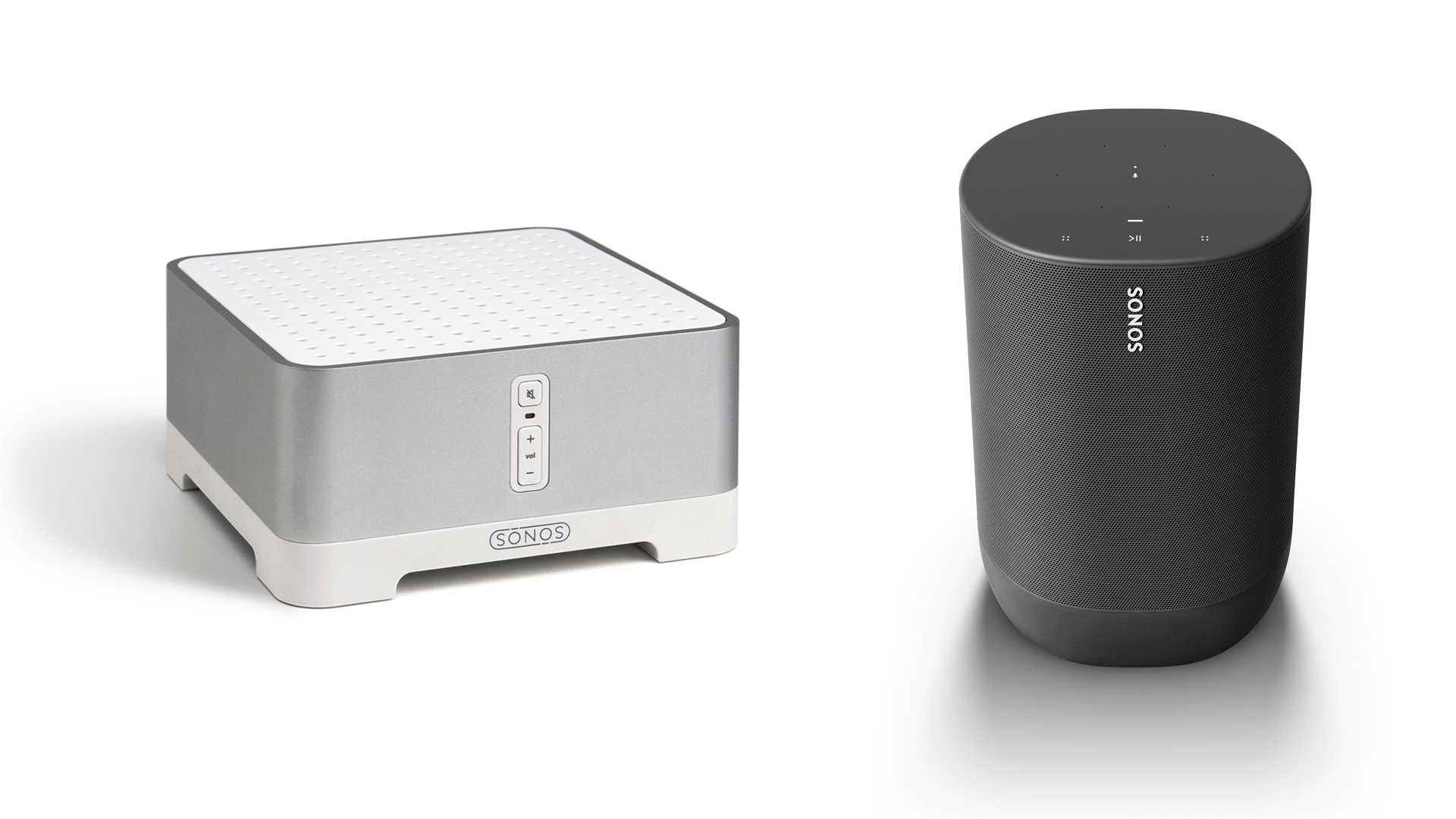 "The aging Sonos ZP 120 and the recent Sonos ""Move"" (Images: Sonos)"