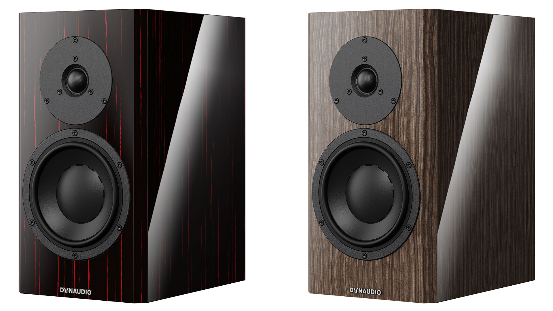"Dynaudio Special Forty in ""Black Vine"" (l.) and ""Ebony Wave"" (r.) (Image Credits: Dynaudio)"